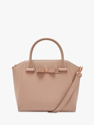 Ted Baker Janne Bow Leather Tote Bag Taupe