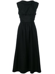 Aspesi Draped Waist Dress Black