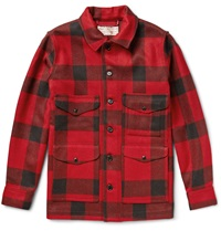 Filson Cruiser Checked Mackinaw Wool Jacket Red