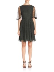 Jason Wu Flutter Sleeve Lace Cocktail Dress Dark Moss