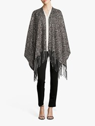 Betty Barclay Animal Knitted Cape Taupe Black