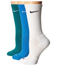 Nike Dri Fit Cushion Crew 3 Pair Pack Multicolor 4 Women's Crew Cut Socks Shoes