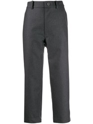 Sofie D'hoore Cropped Flanel Trousers Grey