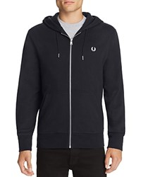 Fred Perry Loopback Hooded Sweatshirt Navy