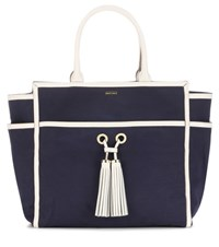 Melissa Odabash Palm Beach Canvas Tote Blue