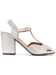 Chie Mihara Birthe T Bar Sandals Women Leather Rubber 37 Metallic