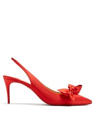 Christian Louboutin Yasling 70Mm Slingback Satin Pumps Red