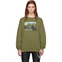 Off White Green Hug Long Sweatshirt