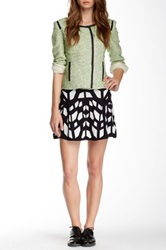 Romeo And Juliet Couture Printed Knit Skater Skirt Black