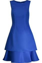 Mikael Aghal Tiered Ponte Dress Cobalt Blue