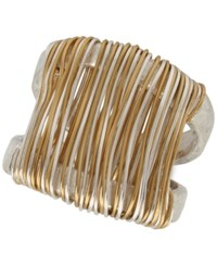 Robert Lee Morris Soho Two Tone Wire Wrapped Sculptural Ring Two Tone