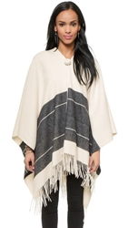 By Malene Birger Sinadis Striped Poncho Cream