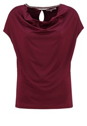 Anna Field Print Tshirt Pomegranate Bordeaux