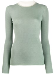 Missoni Contrast Collar Jumper Green