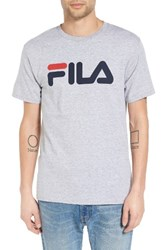 Fila Men's Usa Graphic T Shirt Grey Heather