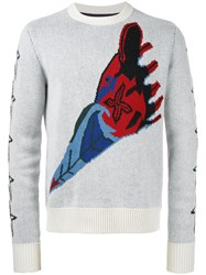 The Soloist Crew Neck Jumper White