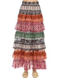 Zimmermann Wild Printed Silk Skirt Spliced