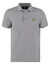 Lyle And Scott Polo Shirt Mid Grey Marl