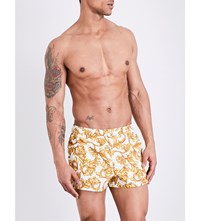 Versace Baroque Swim Shorts White Gold