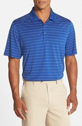 Men's Cutter And Buck 'Franklin' Drytec Polo Tour Blue White
