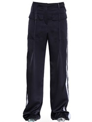 Loewe Painted Stripes Frayed Satin Trousers