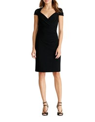 Lauren Ralph Lauren Petite Jersey Knit Sheath Dress Black