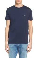 Lacoste Men's Pima Cotton T Shirt Navy Blue