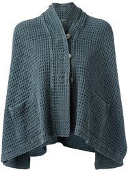 Romeo Gigli Vintage Textured Cropped Cape Blue