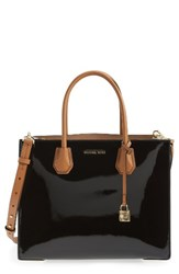Michael Michael Kors Large Mercer Colorblock Leather Tote Black