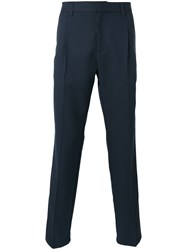 Soulland Acker Trousers Men Polyester Viscose M Blue