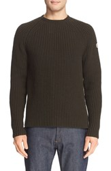 Men's Moncler Ribbed Wool And Cashmere Sweater