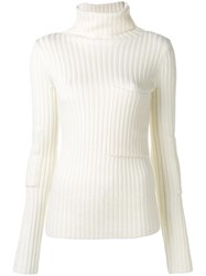 Joseph Ribbed Turtle Neck Jumper Nude Neutrals