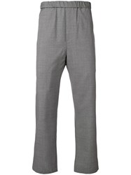 Oamc Elasticated Cropped Trousers Grey