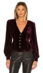 House Of Harlow 1960 X Revolve Chandra Blouse In Wine.