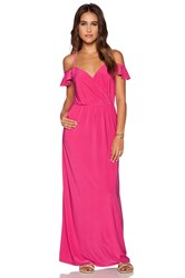 T Bags Losangeles Cold Shoulder Maxi Dress Fuchsia
