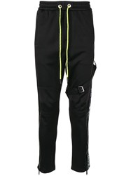 Iceberg Zipped Ankle Track Pants Black