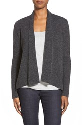 Eileen Fisher Shawl Collar Wool Blend Cardigan Charcoal