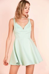 Kimchi And Blue Heart Of The Ocean Sweetheart Mini Dress Mint