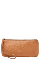 Fossil 'Gifts Small' Cosmetics Case Camel