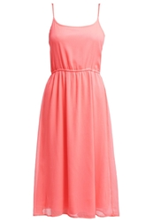 Only Onlrosanna Summer Dress Neon Punk Orange