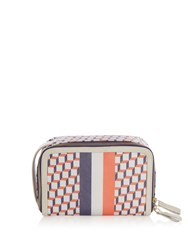 Pierre Hardy Cube Print Coated Canvas Cosmetics Case Multi