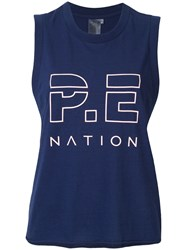 P.E Nation Throw In The Towel Tank Top Blue