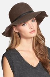 Women's Nordstrom Floppy Wool Hat Brown Heather Brown