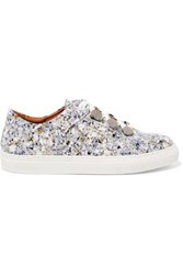 Carven Resonance Printed Patent Leather Sneakers Multicolor