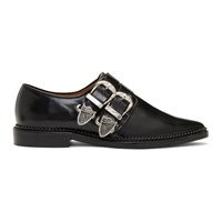 Toga Pulla Black Two Buckle Western Oxfords