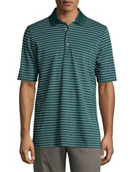Bobby Jones Short Sleeve Pencil Stripe Polo Shirt Pine Green