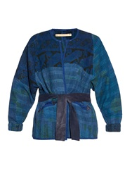 Bliss And Mischief Plains Quilted Kantha Tie Belt Cotton Jacket