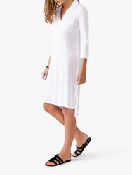 Pure Collection Linen Jersey Tunic Dress White