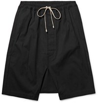 Rick Owens Coated Cotton Shorts Black