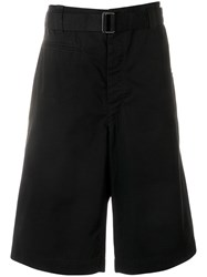 Christophe Lemaire Trench Style Shorts Black